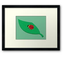 Ladybug on a Leaf Framed Print
