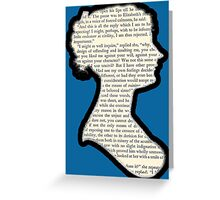 Jane Austen - Pride and Prejudice Greeting Card