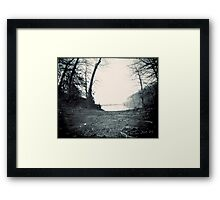 On the Shore of a Man Made Lake Framed Print