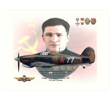 Major Boris F. Safonov Art Print
