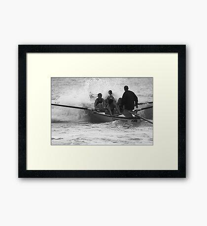 Surf Boat Crew Framed Print
