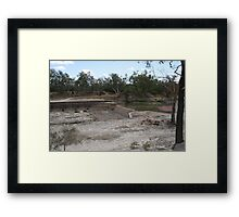 Weir at Bourke During the big Drought Framed Print