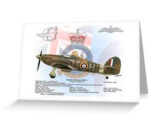 Hawker Hurricane Mk. I Greeting Card
