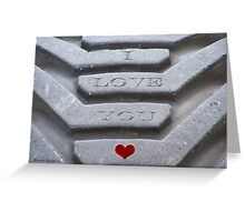 Etched in Stone Greeting Card
