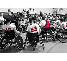 Wheelchair Basketball Team Photographic Print