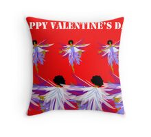 Fairy dance Valentine Throw Pillow