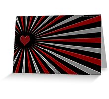 Heart in Spokes Greeting Card