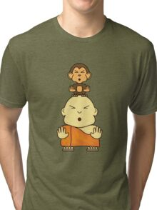 Monkey See Monkey Do - Design #1 Tri-blend T-Shirt