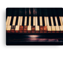 Broken Keys 2 Canvas Print