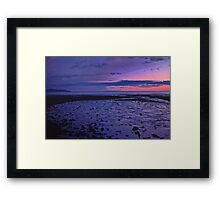 Sunset on Homer Spit Alaska Framed Print