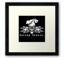 Baker Skull and Crossed Rolling Pins: Baking Badass 1 Framed Print
