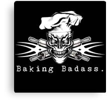 Baker Skull and Crossed Rolling Pins: Baking Badass 1 Canvas Print