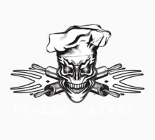 Baker Skull and Crossed Rolling Pins: Baking Badass 1 Kids Clothes