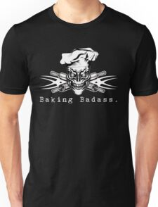 Baker Skull and Crossed Rolling Pins: Baking Badass 1 T-Shirt