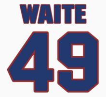 National Hockey player Jimmy Waite jersey 49 by imsport