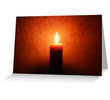 A Single Flame: Inspires Encourages & Guides Greeting Card