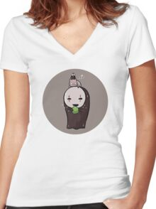 Spirited Away Women's Fitted V-Neck T-Shirt
