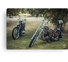 Choppers under mountain ashes Canvas Print