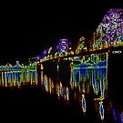 Louisville Aglow by the Bridge by Perspective