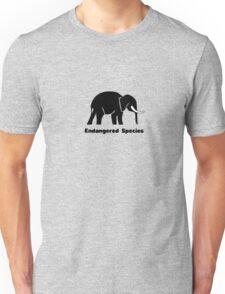 Endangered Species Elephant Unisex T-Shirt