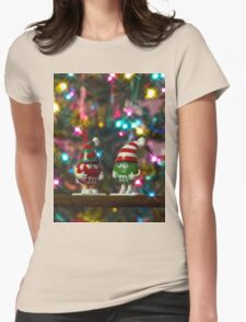 Mr. Red & Mrs. Green M&M Womens Fitted T-Shirt