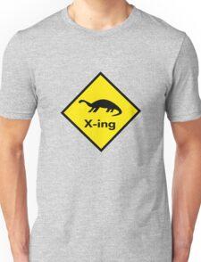 Dinosaur Crossing Unisex T-Shirt