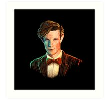 Matt Smith colour portrait Art Print