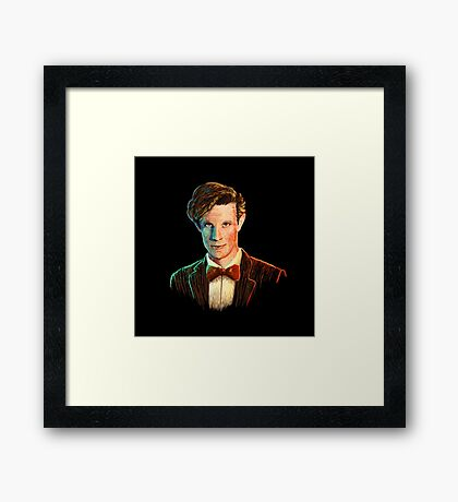 Matt Smith colour portrait Framed Print