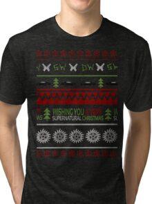 Supernatural Christmas Sweater Tri-blend T-Shirt