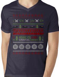 Supernatural Christmas Sweater Mens V-Neck T-Shirt
