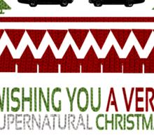 Supernatural Christmas Sweater Sticker