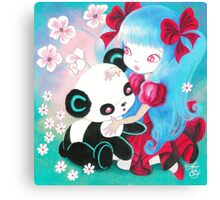 Panda Bear Paradise Canvas Print
