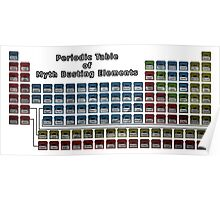 Periodic Table of Myth Busting Elements Poster