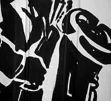 On A Solo Saxaphone (B&W) by Dan Cahill