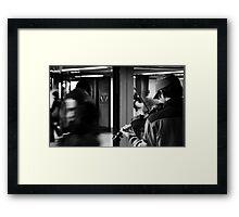 NY Fiddler Framed Print