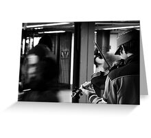 NY Fiddler Greeting Card