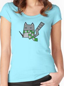 Slytherin Kitty Women's Fitted Scoop T-Shirt
