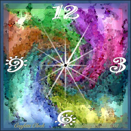 Confetti Clock by Ginny Schmidt