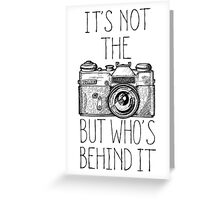 Camera black ink Greeting Card