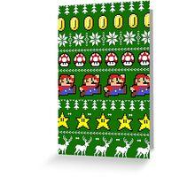 Super Mario 8-bit Ugly Christmas Greeting Card