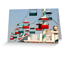 colorful transportation Greeting Card