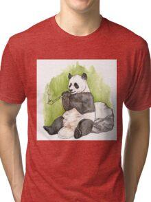 Smoking Panda Tri-blend T-Shirt