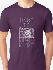 Camera white ink Unisex T-Shirt