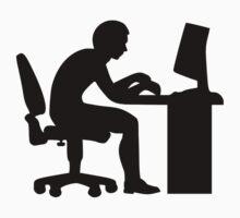 Office desk computer Kids Tee