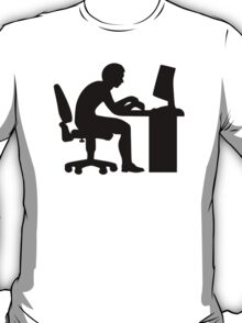 Office desk computer T-Shirt