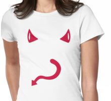 Red devil horns tail Womens Fitted T-Shirt