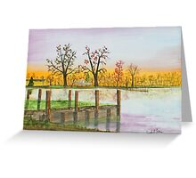Landing Sunrise   140405 Greeting Card