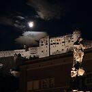 Festung Hohensalzburg from the Domplatz by Mark Heller