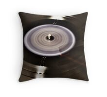 Spinning Record Throw Pillow