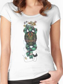 Life of a Teenage Turtle - Mikey Women's Fitted Scoop T-Shirt